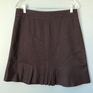 Anthropologie Fei Pleated Mini Skirt